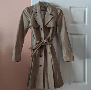 H&M Tan Belted Trench Coat